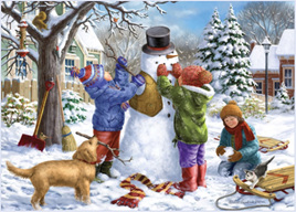 Holdson 500 XL Piece Jigsaw Puzzle Kids & The Snowman