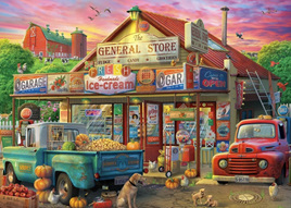 Holdson's 500XL Piece Jigsaw Puzzle:  Pickups & Produce - General Store