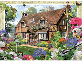 Holdson's 500XL Piece Jigsaw Puzzle: Peony Cottage