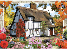 Holdson's 500XL Piece Jigsaw Puzzle: Sedum Cottage