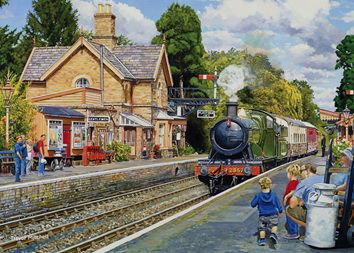 Holdson 500XL Piece Jigsaw Puzzle: Hampton Loade On The Severn Valley Railway