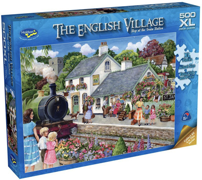 Holdson 500XL Piece Jigsaw Puzzle: Stop At The Train Station