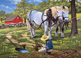 Holdson 500XL  Piece Jigsaw Puzzle:  To The Fields