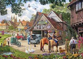 Holdson's 500XL  Piece Jigsaw Puzzle: Village Garage
