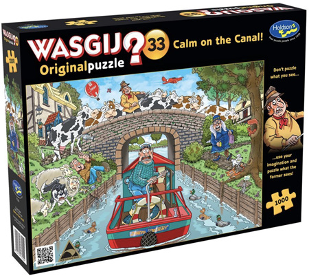 Holdson Wasgij 1000 Piece Jigsaw Puzzle: Calm On The Canal