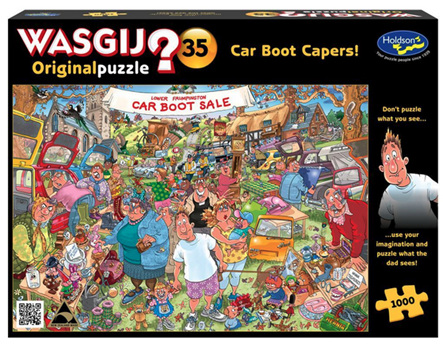 Holdson Wasgij 1000 Piece Jigsaw Puzzle: Car Boot Capers
