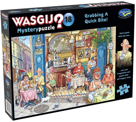 Holdson Wasgij 1000 Piece Jigsaw Puzzle: Grabbing A Quick Bite