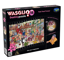 Holdson Wasjig 1000 Piece Jigsaw Puzzle: Fast Food Frenzy