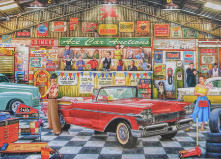 Holdson's 1000 Piece Jigsaw Puzzle:  Ace Car Auctions