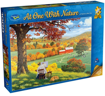 Holdson's 1000 Piece Jigsaw Puzzle:  At One With Nature - A World Of Her Own