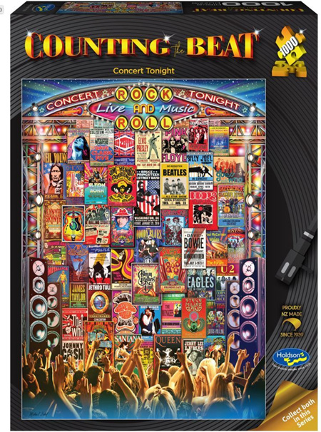 Holdson's 1000 Piece Jigsaw Puzzle:  Counting The Beat (Concert Tonight)