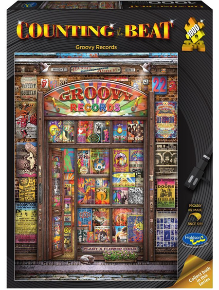 Holdson's 1000 Piece Jigsaw Puzzle:  Counting The Beat (Groovy Records)