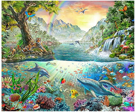 Holdson's 1000 Piece Jigsaw Puzzle:  Dolphin Paradise
