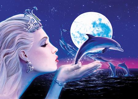 Holdson's 1000 Piece Jigsaw Puzzle:  Dolphin Princess
