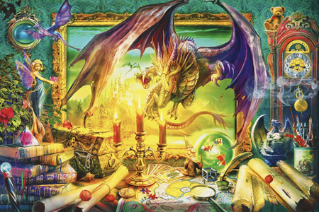 Holdson's 1000 Piece Jigsaw Puzzle:  Dragon Come To Life