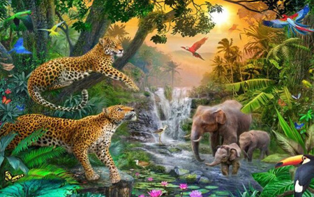 Holdson's 1000 Piece Jigsaw Puzzle:  Elephant Falls