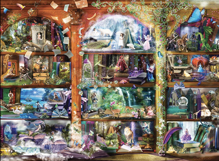 Holdson's 1000 Piece Jigsaw Puzzle: Enchanted Fairytale Library