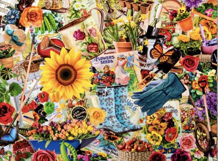 Holdson's 1000 Piece Jigsaw Puzzle:  Garden Collage