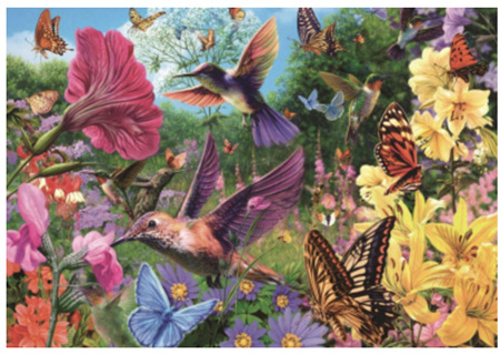 Holdson's 1000 Piece Jigsaw Puzzle:  Hummingbird Garden