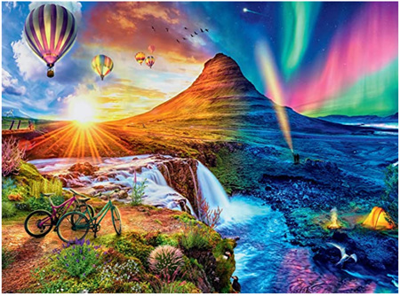 Holdson's 1000 Piece Jigsaw Puzzle:  Iceland Day To Night