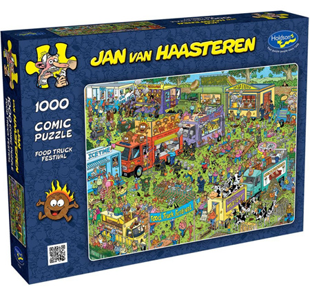 Holdson's 1000 Piece Jigsaw Puzzle: Jan Van Haasteren - Food Truck Festival