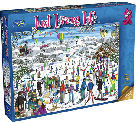Holdson's 1000 Piece Jigsaw Puzzle:  Just living Life - Ski