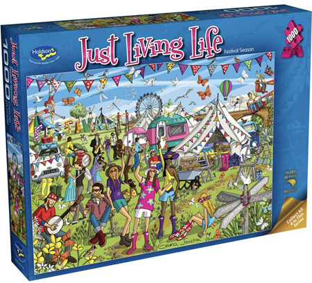 Holdson's 1000 Piece Jigsaw Puzzle:  Just living Life - FESTIVAL SEASON