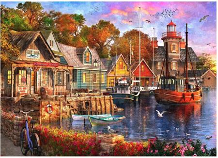 Holdson's 1000 Piece Jigsaw Puzzle: Safe Harbour - The Harbour Evening