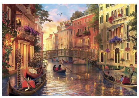 Holdson's 1000 Piece Jigsaw Puzzle:  Sunset In Venice