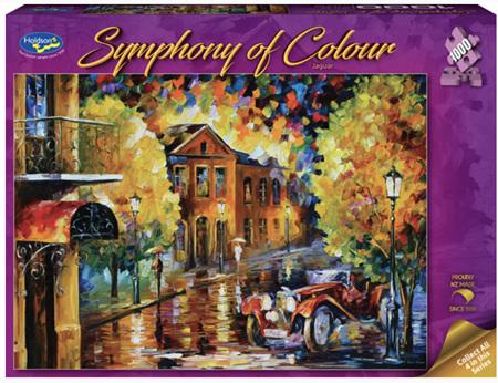 Holdson's 1000 Piece Jigsaw Puzzle:  Symphony Of Colour - Jaguar