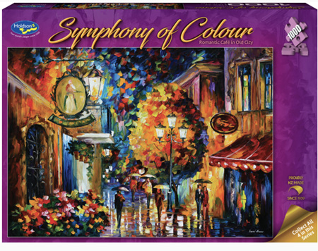 Holdson's 1000 Piece Jigsaw Puzzle:  Symphony Of Colour - Romantic Café in Old City
