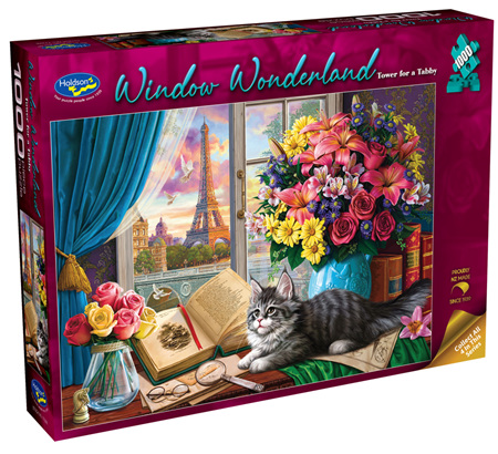 Holdson's 1000 Piece Jigsaw Puzzle:  Tower For Tabby