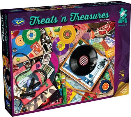 Holdson's 1000 Piece Jigsaw Puzzle:  Treats'n Treasures - Viva La Vinyl