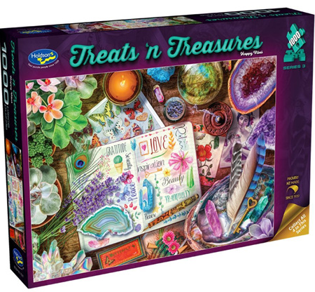 Holdson's 1000 Piece Jigsaw Puzzle:  Treats'n Treasures - Happy Vibes