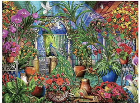 Holdson's 1000 Piece Jigsaw Puzzle:  Tropical Greenhouse