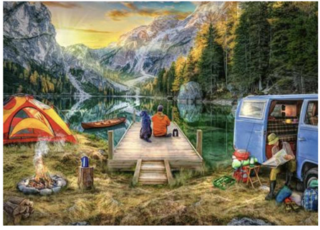 Holdson's 1000 Piece Jigsaw Puzzle:  Wanderlust Camping