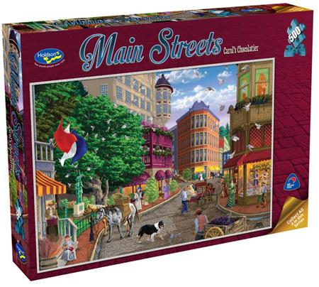Holdson's 500 Piece Jigsaw Puzzle: Main Streets - Carol's Chocolatier