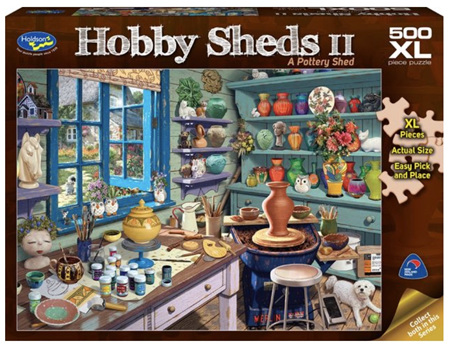 Holdson's 500 XL Piece Jigsaw Puzzle  A Pottery Shed