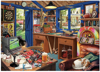 Holdson's 500 XL Piece Jigsaw Puzzle  The Hobby Shed / Man Cave