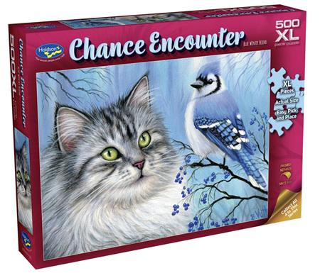 Holdson's 500XL Piece Jigsaw Puzzle: Chance Encounter - Blue Winter Friend