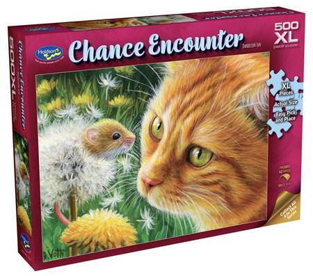 Holdson's 500XL Piece Jigsaw Puzzle: Chance Encounter - Dandelion Fun