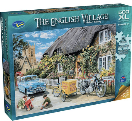 Holdson's 500XL Piece Jigsaw Puzzle: English Village S3 - BAKER'S DELIVERY