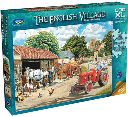 Holdson's 500XL Piece Jigsaw Puzzle: English Village S3 - PASSING THE SMITHY