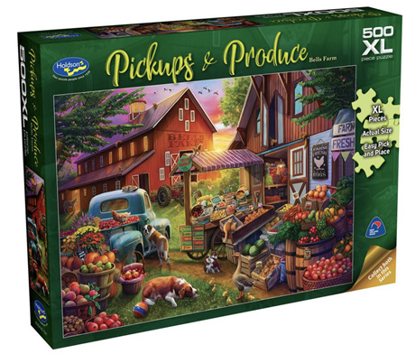 Holdson's 500XL Piece Jigsaw Puzzle: Pickups & Produce - Bells Farm