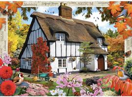 Holdson's 500XL Piece Jigsaw Puzzle: Sedum Cottage