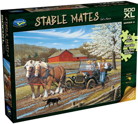 Holdson's 500XL Piece Jigsaw Puzzle: Stable Mates - Get A Horse