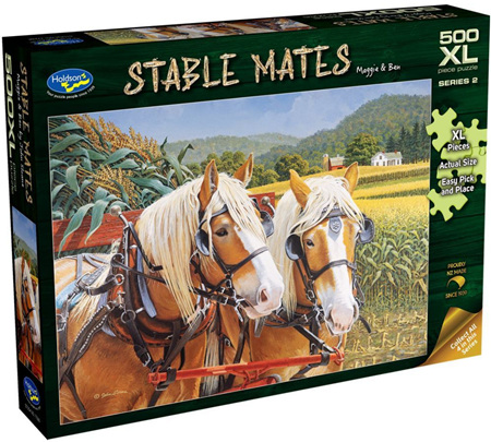 Holdson's 500XL Piece Jigsaw Puzzle: Stable Mates - Maggie & Ben