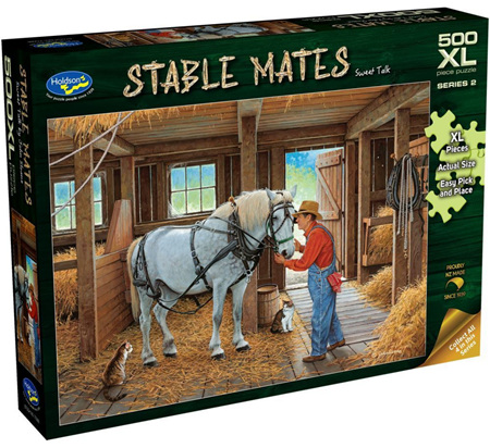 Holdson's 500XL Piece Jigsaw Puzzle: Stable Mates - Sweet Talk