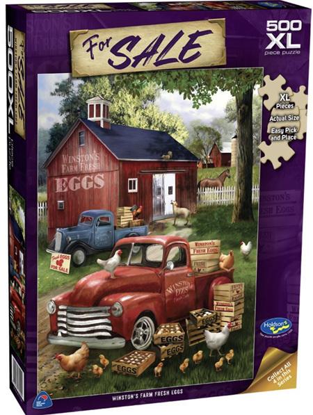 Holdson's 500XL Piece Jigsaw Puzzle: Winston's Farm Fresh Eggs