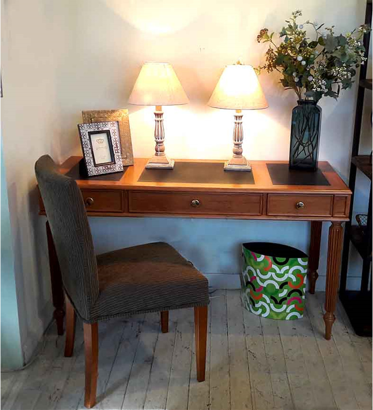 Holdsworth Study Desk Rimu with leather insets